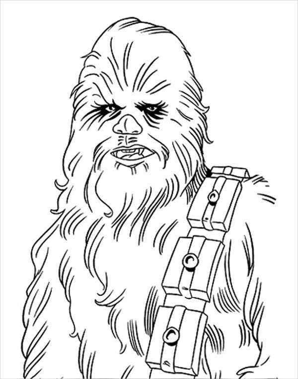 star wars character coloring page