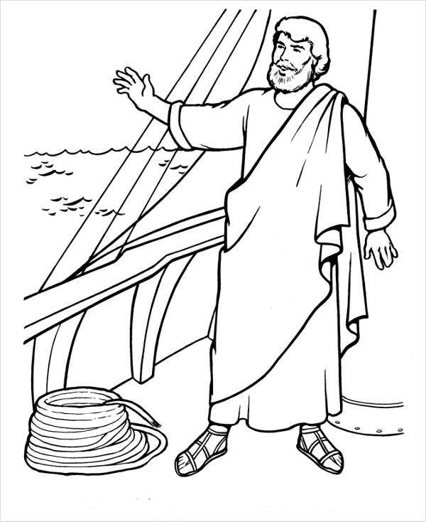 bible character coloring page