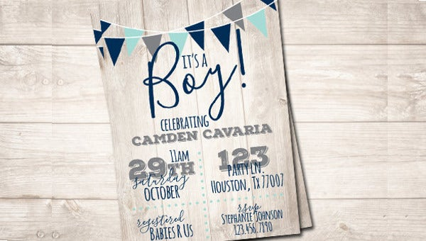baby shower invitation banner