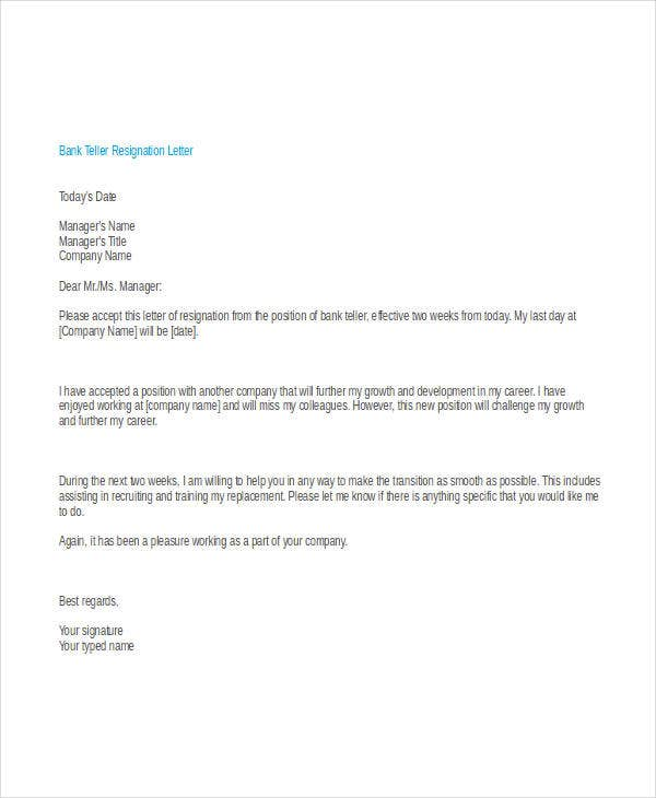 30 Simple Resignation Letters Free Amp Premium Templates