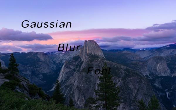 gaussian-blur-font