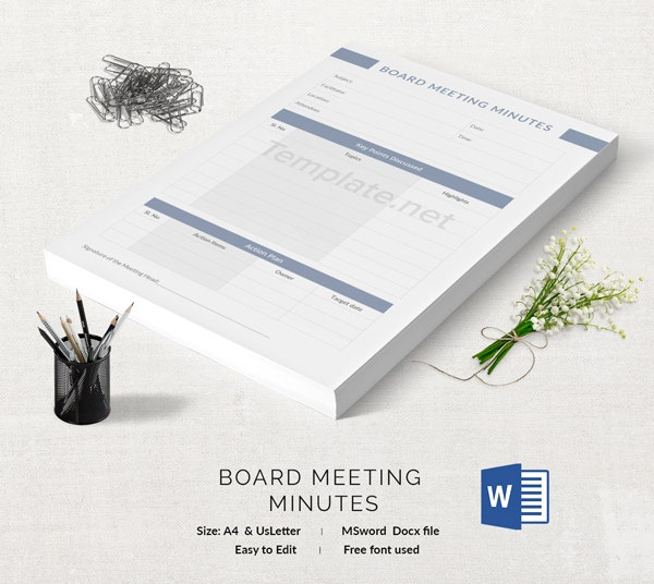 Board Meeting Template