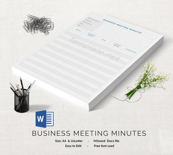 Business Meeting Minutes Template