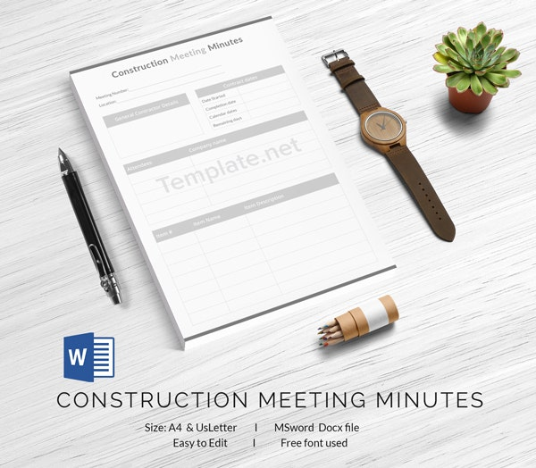 template minutes of meeting contract kick off allsafety management