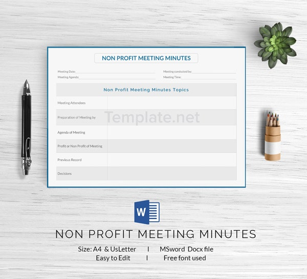 14  free meeting minute templates