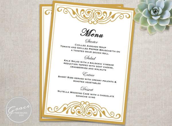 6 event menu templates psd vector eps ai illustrator