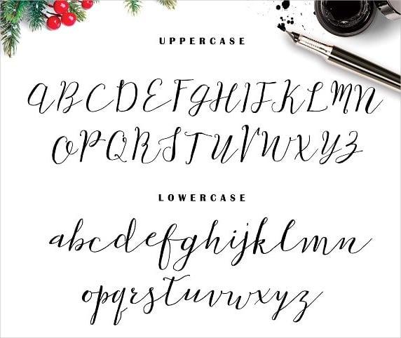 snow script font