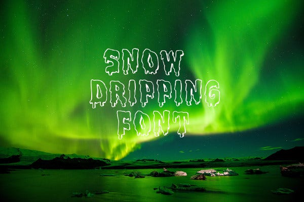 snow-dripping-font