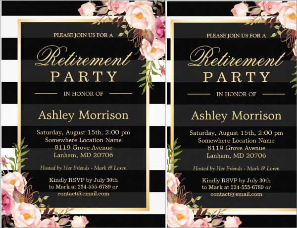 8  farewell lunch invitations