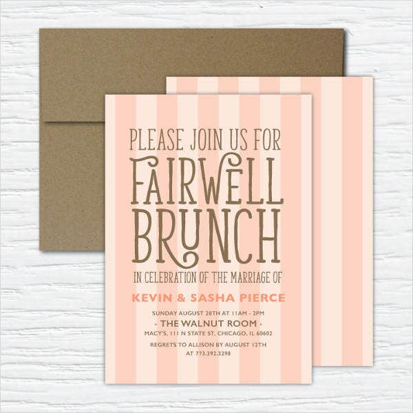 8 Farewell Lunch Invitations JPG Vector EPS Ai Illustrator