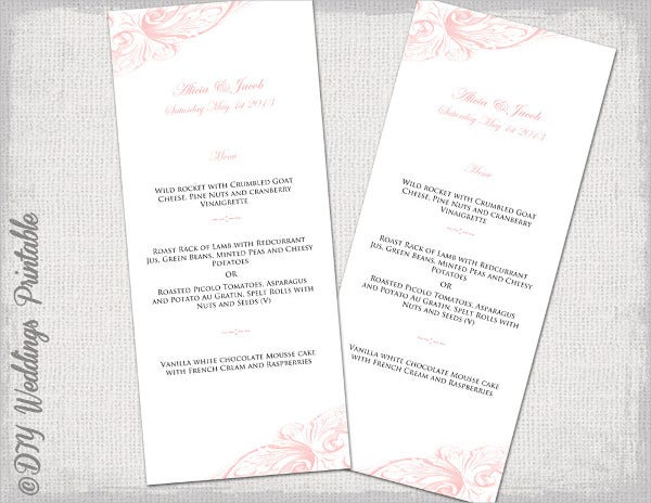 vintage scroll menu template