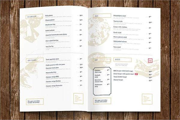 Hotel Breakfast Menu Template