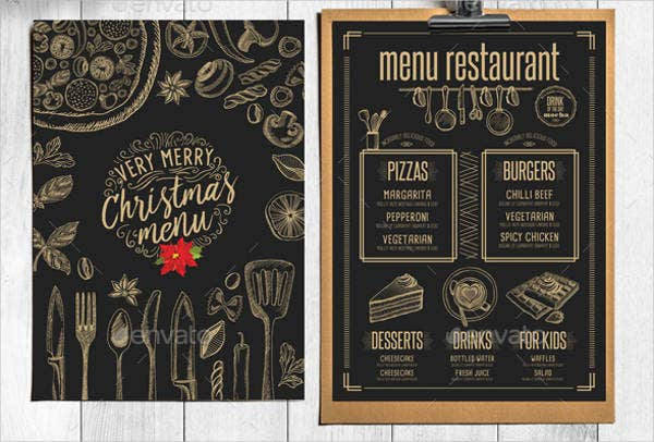 Hotel Christmas Menu Template