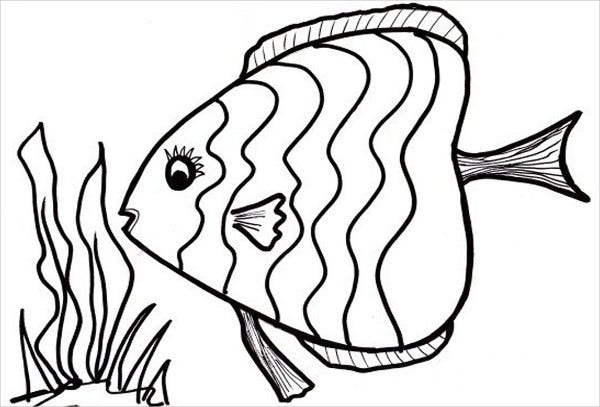 8+ Fish Coloring Pages - JPG, AI Illustrator | Free ...