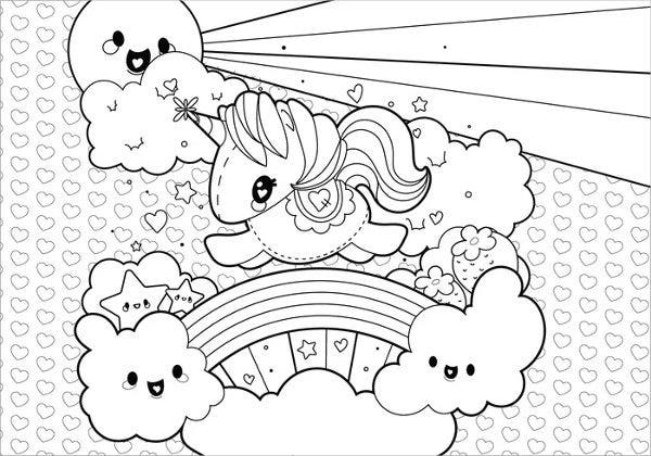 Rainbow Little Pony Coloring Page