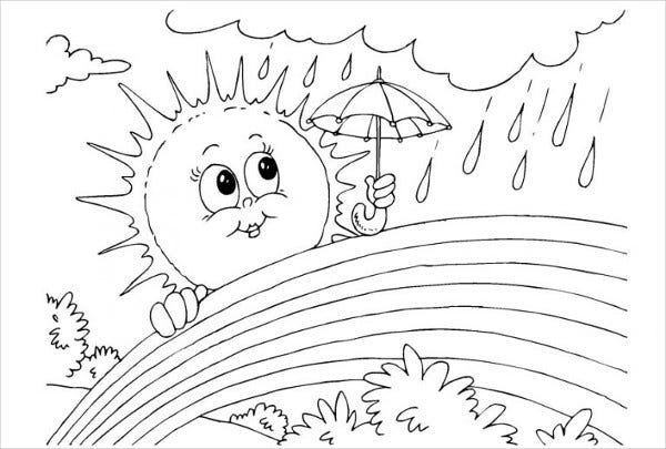 Rainbow Coloring Page for Kid's