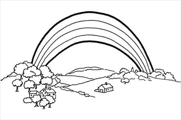 9 rainbow coloring pages jpg ai illustrator download for Rainbow templates to colour