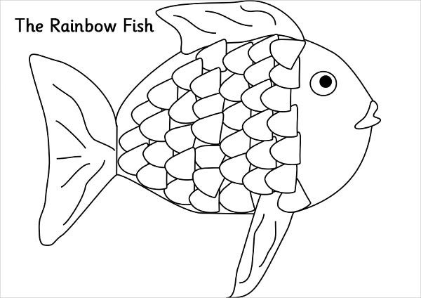 rainbow fish coloring pages - photo#18