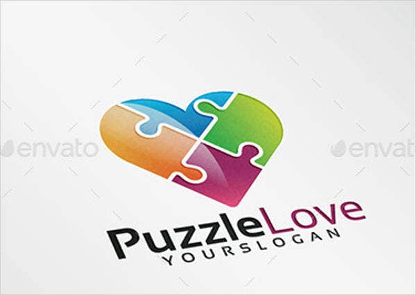 heart puzzle coloring page