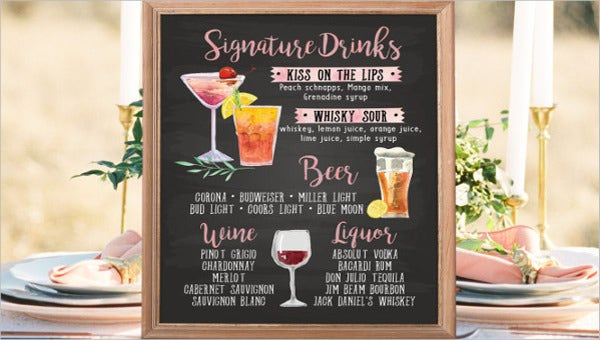 9chalkboardweddingmenutemplates