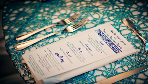 8 table menu templates