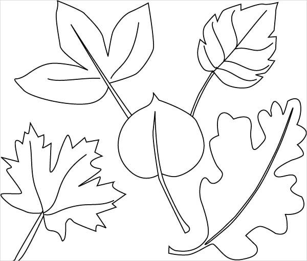 Jungle Leaf Coloring Page