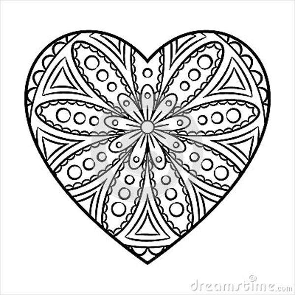 8 Heart Coloring Pages JPG AI Illustrator Download Free