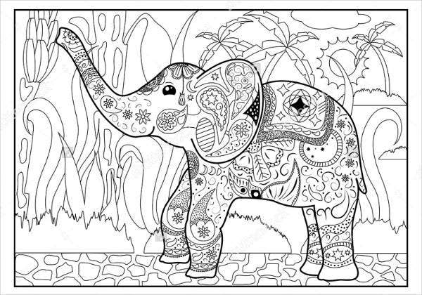 Jungle Coloring Page For Adults
