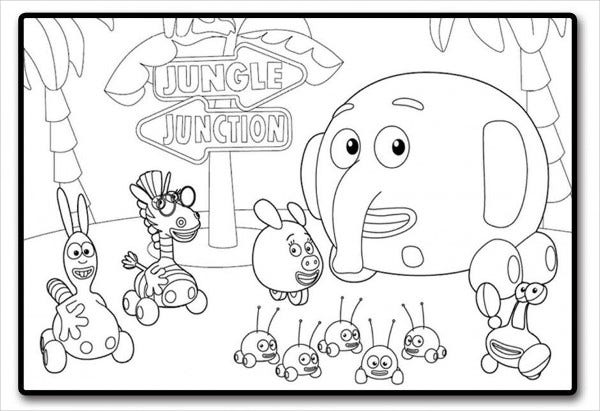 jungle junction coloring pages.html