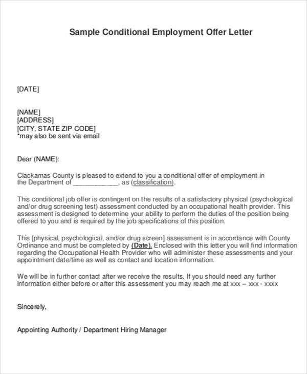 Employment Offer Letter Template   Free Word Pdf Format Download