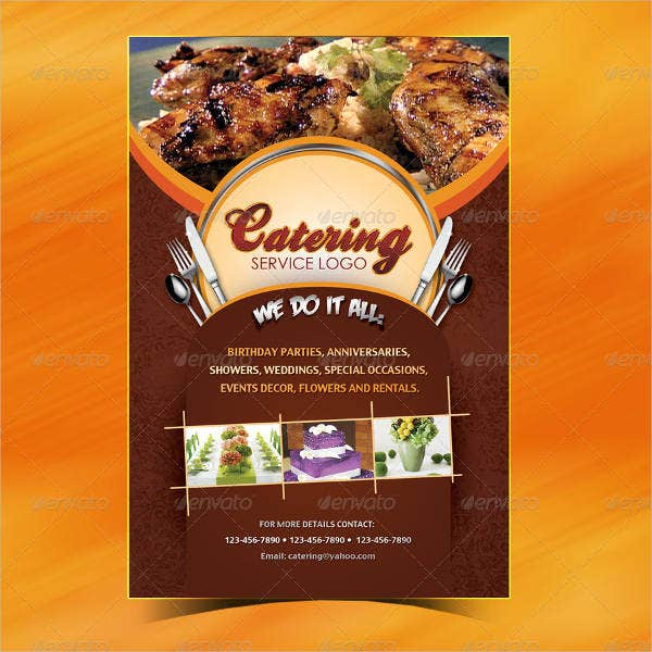 catering buffet menu design