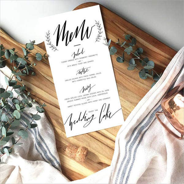 buffet dinner menu template6