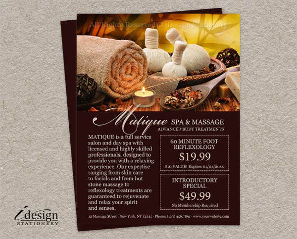 personalized salon menu design