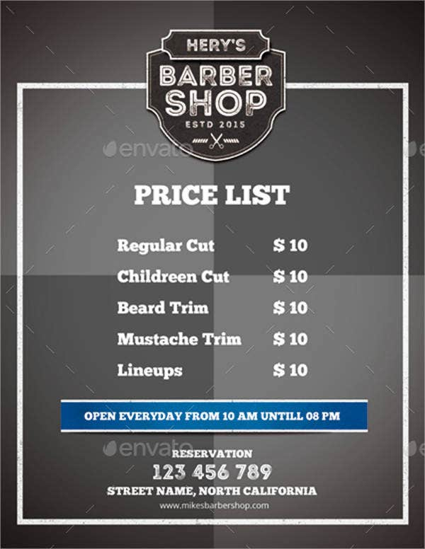 hair-salon-menu-template