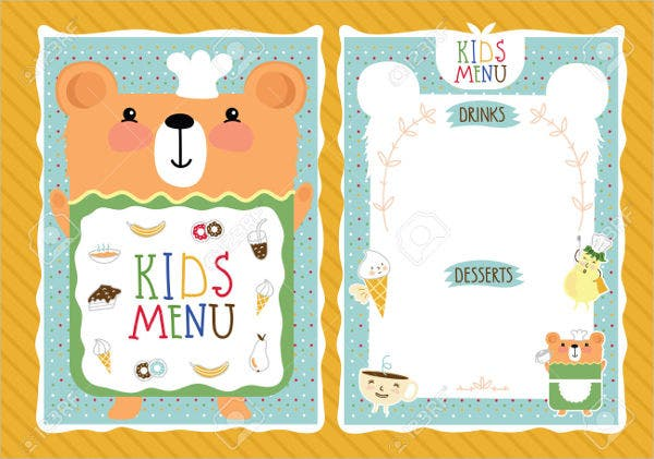 8 preschool menu templates psd vector eps ai for Blank daycare menu template
