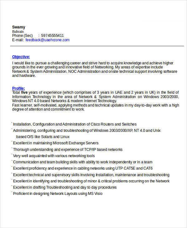 Charmant Best IT Resume Format Template