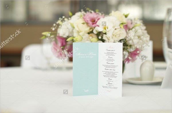 event banquet menu template