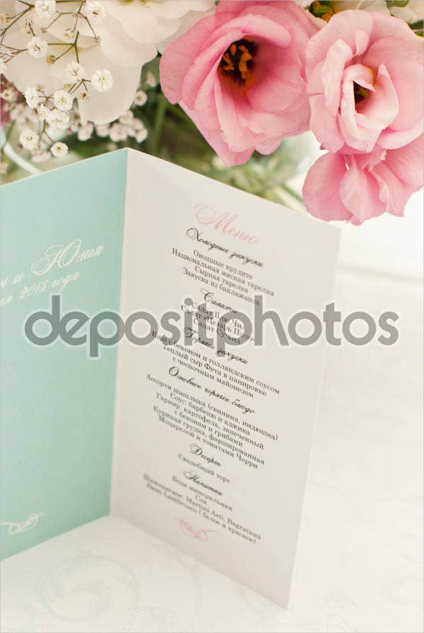 formal banquet menu template