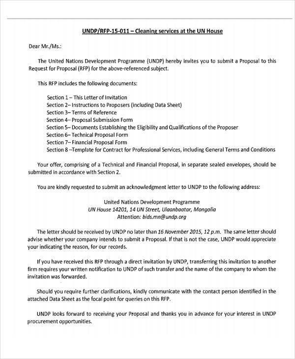 Service Proposal Letter Complaint Letter Examples Samples Cleaning