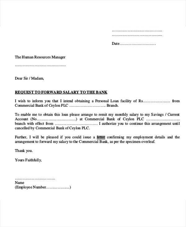 Letter Format Used In Banks. Loan Offer Letter Format Template  9 Free Word PDF Download
