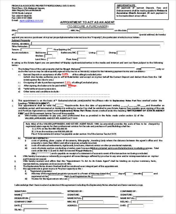 Agent Appointment Letter Template - 7+ Free Word, Pdf Format