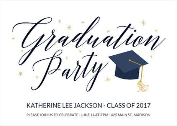 free printable graduation menu template