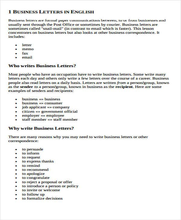 business e mail format free premium templates