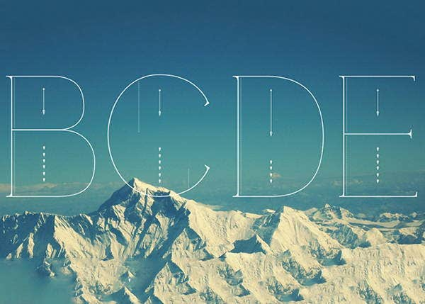 modern thin font