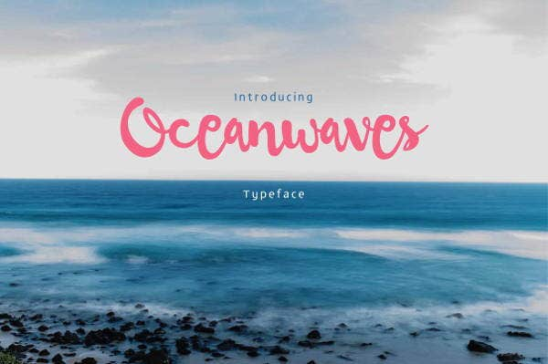 ocean wave font