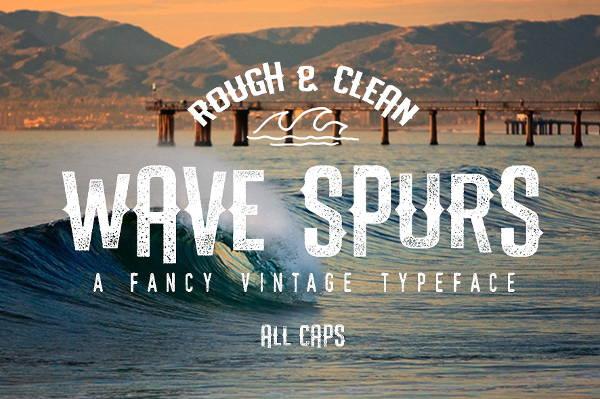 wave script font
