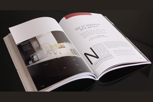 catalog magazine layout template