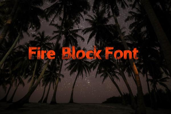 fire block font