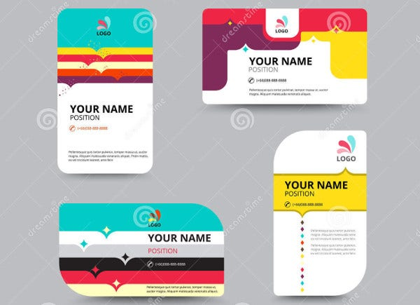 Vector Business Card Layout Design