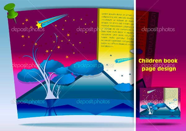 childrens book layout template